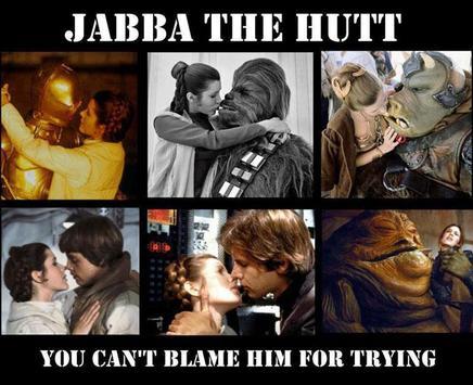 Jabba the hutt princess leia kiss