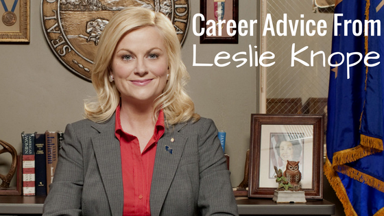 Leslie Knope cover photo career advice